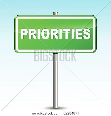 Vector Priorities Signpost