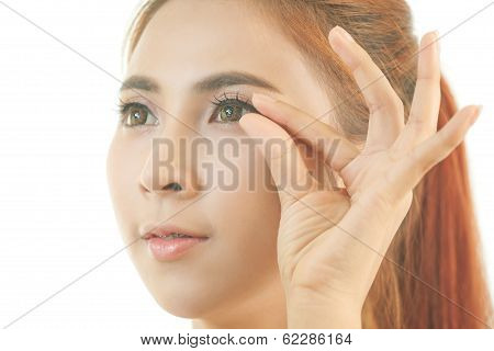 Woman Makeup False Eyelash