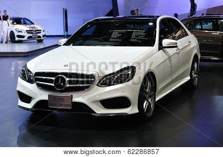 Nonthaburi - March 25: New Mercedes Benz E 300 Bluetec Hybrid On Display At The 35Th Bangkok Thailan