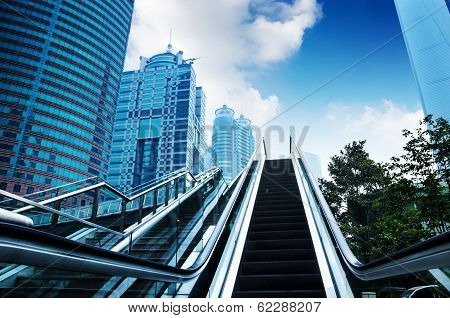 Escalator Of Shanghai Streets