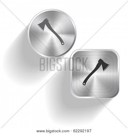 Axe. Raster set steel buttons