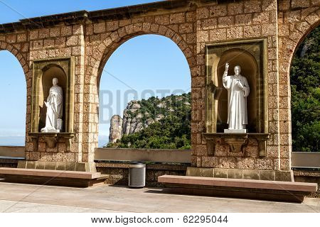 Sculptures In The Cloister Montserrat Monastery