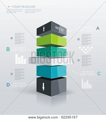 Modern Design Template Infographic.