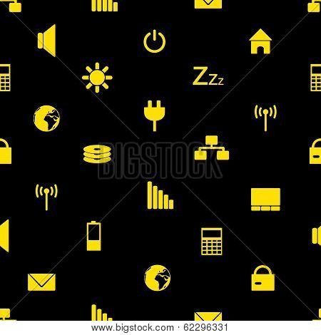 laptop and pc indication icons pattern eps10