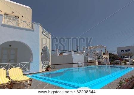 Villa On Santorini Island