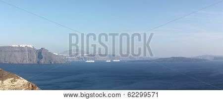 Panorama Of Santorini Islands In The Cyclades