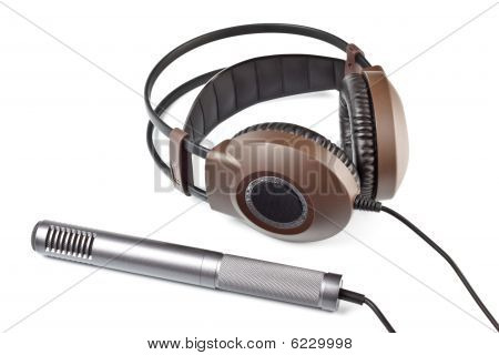Headphones And Vocal Microphone