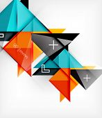 picture of cell block  - Geometric Triangles Template For Brochure  - JPG