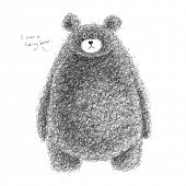 picture of hairy  - Vector Hairy Bear - JPG