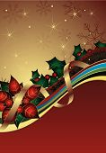 pic of card christmas  - Illustration of Red Christmas Abstract Curve Background - JPG