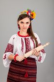 picture of domina  - Housewife with rolling pin - JPG