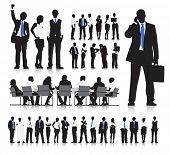 Vector of Business People in Various Situations