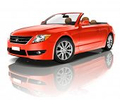 image of generic  - Red Convertible 3D Car - JPG