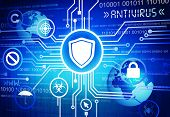 stock photo of antivirus  - Antivirus Background - JPG