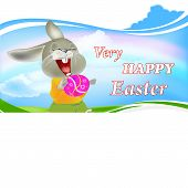 picture of duck egg blue  - Happy Rabbit and Easter Egg - JPG