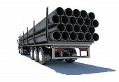 pic of truck-cabin  - Truck transporting pipe - JPG