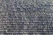 Wooden Tile On The Roof Of The House