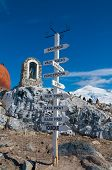 Chilean Base Antarctica Distance Pole