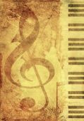 stock photo of treble clef  - Background in retro  - JPG