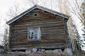 picture of cornerstone  - Old timbered house used in the summer for about two hundred years ago - JPG