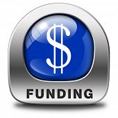 stock photo of non-profit  - funding icon fund raising for charity money donation for non profit organization - JPG