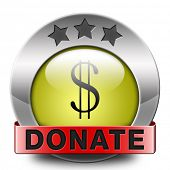 donate icon and give to charity help fund raising give and raise money donation