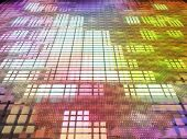 Multicolored Abstract Matrix Background.
