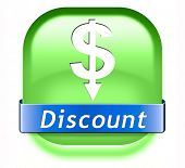 Discount sale bargain and reduction icon. Lowest price offer and great sales deal