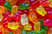 picture of gummy bear  - colourful gummy bears candy in a variety of shapes and colors - JPG
