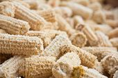foto of corn cob close-up  - close up of Cob meal Ground corn cob - JPG