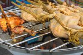 image of chicken-wire  - Whole Of Chicken On Grill - JPG