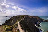 pic of sark  - La Coupee on Sark channel islands UK  - JPG
