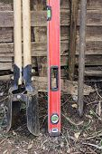 picture of auger  - A selection of tools for fence construction - JPG