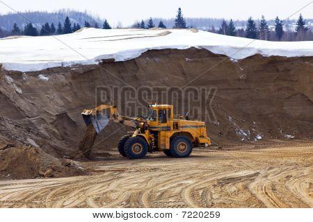 Tractor Work In Opencast