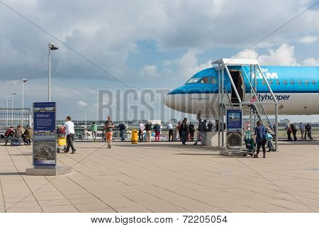 Viewing Platform With Unknown Visitors And A Visitable Airplane