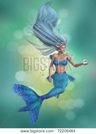 Mermaid In Blue