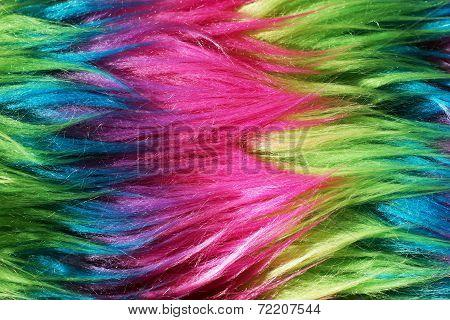 Neon Color Faux Fur Background 2