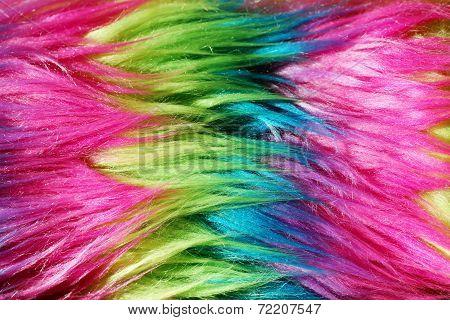 Neon Color Faux Fur Background