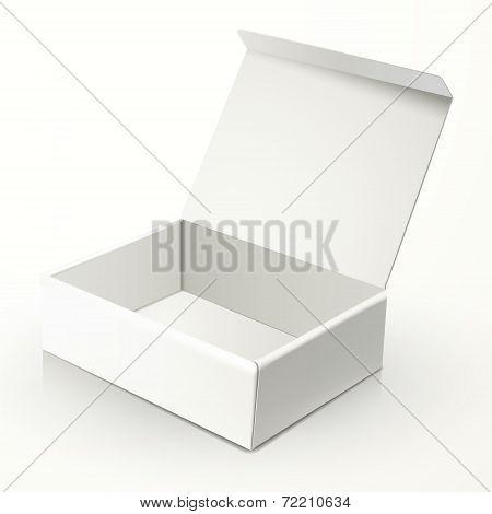 Blank Open Paper Box