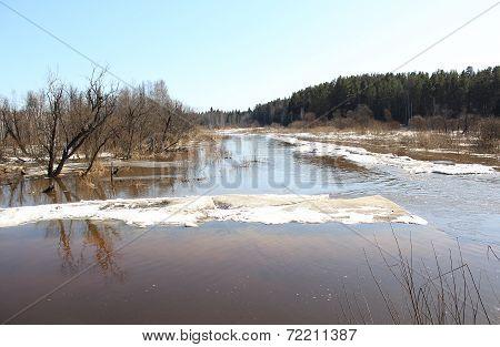 spring river landscape Barga