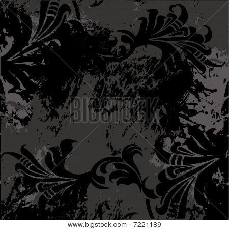 black flower background