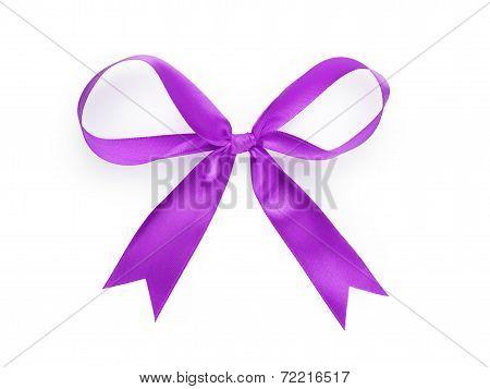 Violet Thin Ribbon Bow