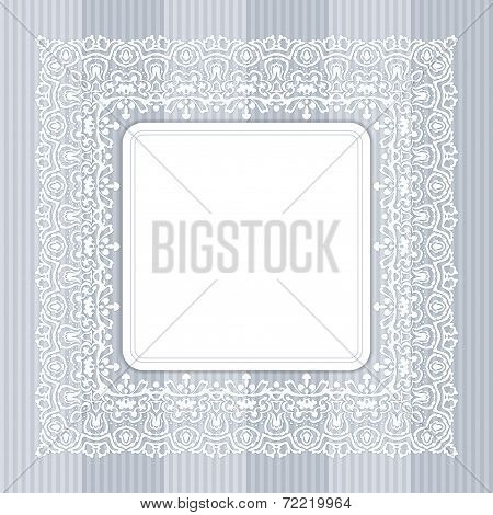 Border With Swirls. Floral Motif Frame