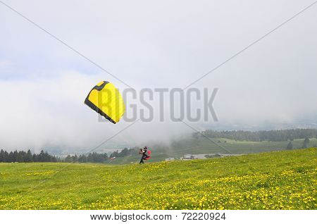 Paragliding In Semnoz, Savoy, France