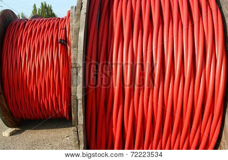 Coil Of High Voltage Power Cable The Power The Electric Utilities