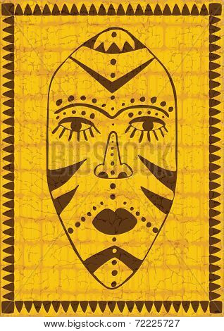 Golden African Mask