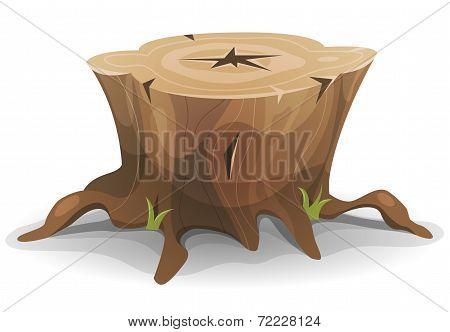 Comic Tree Stump
