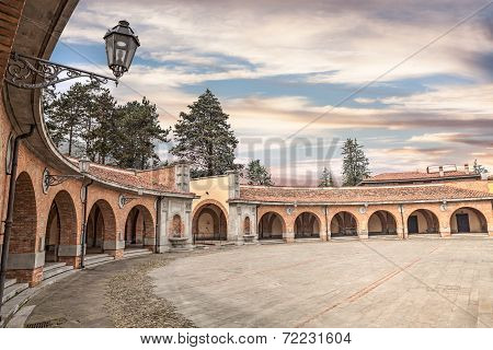 Predappio, Italy, Square G.garibaldi