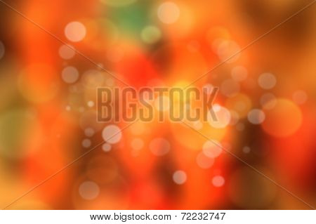 Red And Orange Bokeh. Abstract Colorful Background