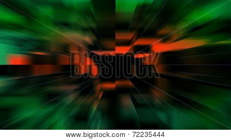 Blurred Green Red Background